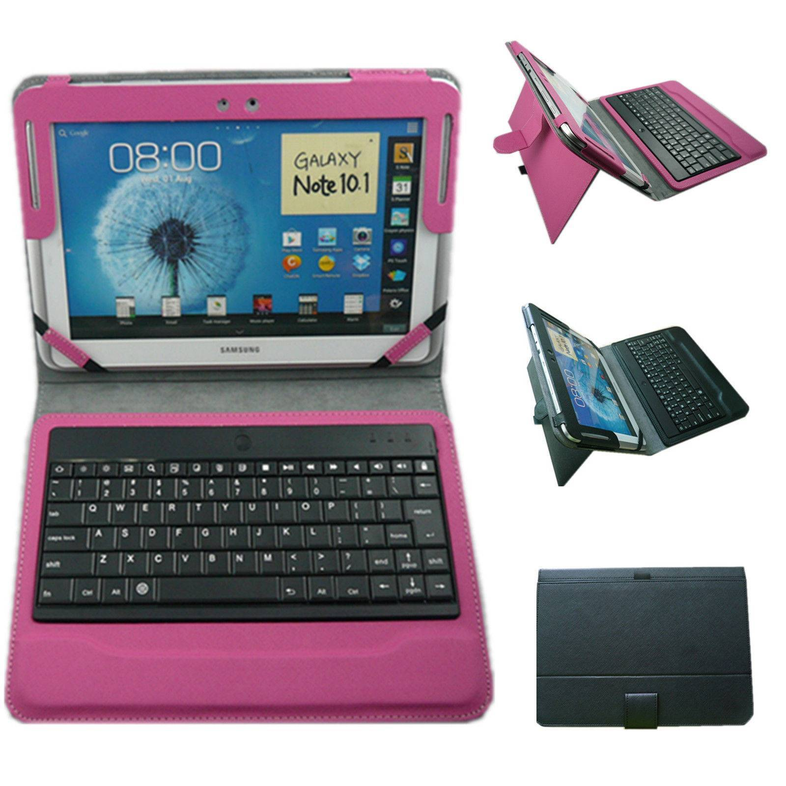 Bluetooth US Keyboard with Leather case For Samsung Galaxy Note 10.1 N8000