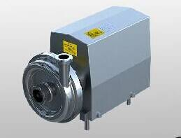 Sanitary steel centrifugal beverage pump for beer