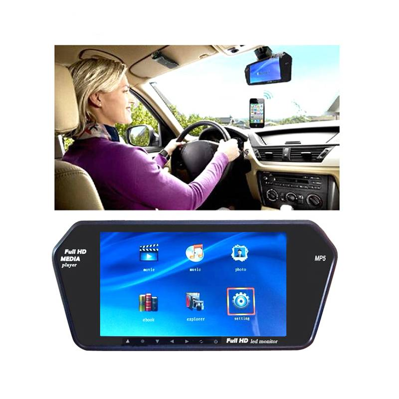 7Inch LCD MP5 Car Rear Mirror Monitor 800480 HD Parking Rearview Monitor Screen for Rear View Rever