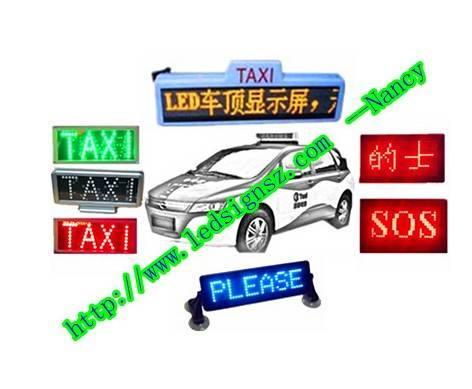 LED taxi signs