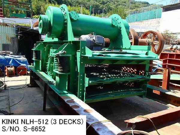 RECONDITIONED & REPAINTED KINKI HORIZONTAL TYPE 5FT X 12FT (3 DECKS) VIBRATING SCREEN S/NO. S-6652