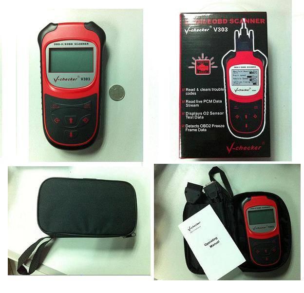 newest OBDII code scanner auto diagnostic tool OBD2 V-checker V303