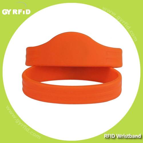 WRS11 new shape ISO14443A NFC silicon Wristbands(GYRFID)