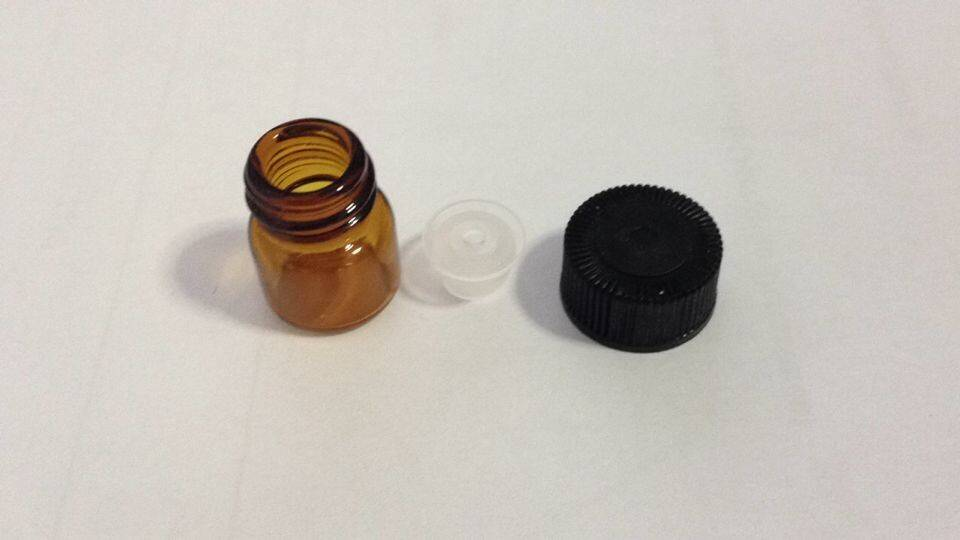 1ml amber glass vials