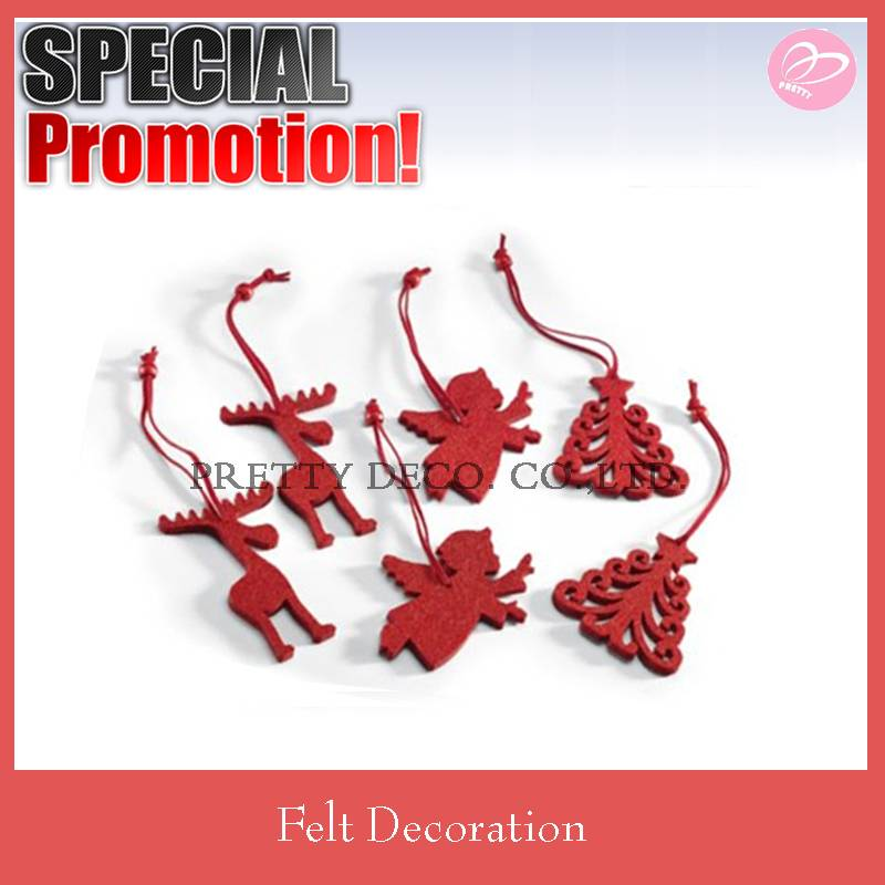Red die cut shaped wholesale christmas decorations