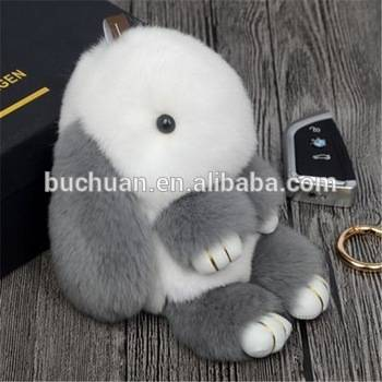 2016 rabbit fur keychain