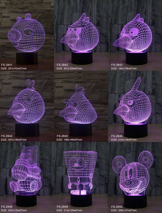 Amazing 3D illusion table lamp and Newest Creative Gift LED 3D night light