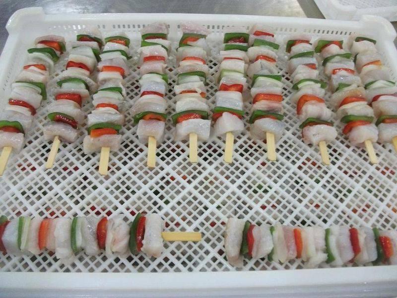 Offer Frozen Monkfish Skewer, apo+pink/chum Skewer