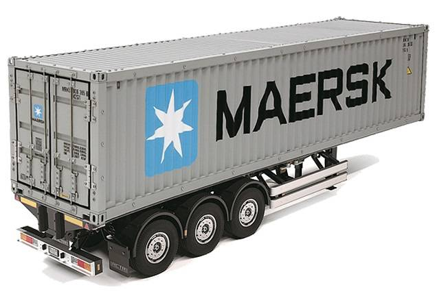 Tamiya Container Trailer Maersk 40ft 3-Axle Truck Assembly Kit