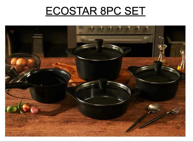 Aluminum Diecasting 4PC SET Cookware for TV home shopping