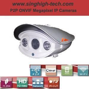 P2p Onvif 720p 1.0MP Waterproof IR IP Camera (NS5086D)