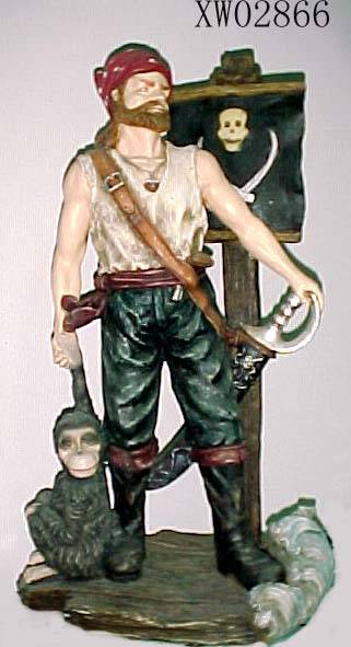 sell polyresin Pirate statuary