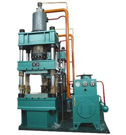 Special hydraulic press for friction material