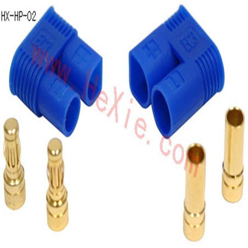 3.5mm banana plug with blue EC3plastic housing