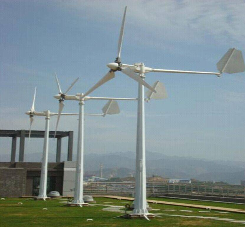 portable wind turbine for seperate power supply