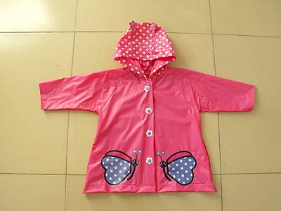 PVC Girl's Raincoat