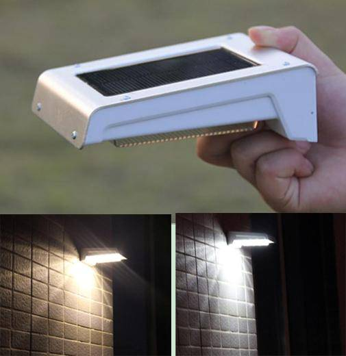 Waterproof Wireless Solar Motion Detection Wall Sensor Light 16 LED Illuminate
