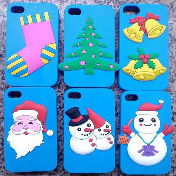 Christmas Gift Silicone Mobile Phone Case