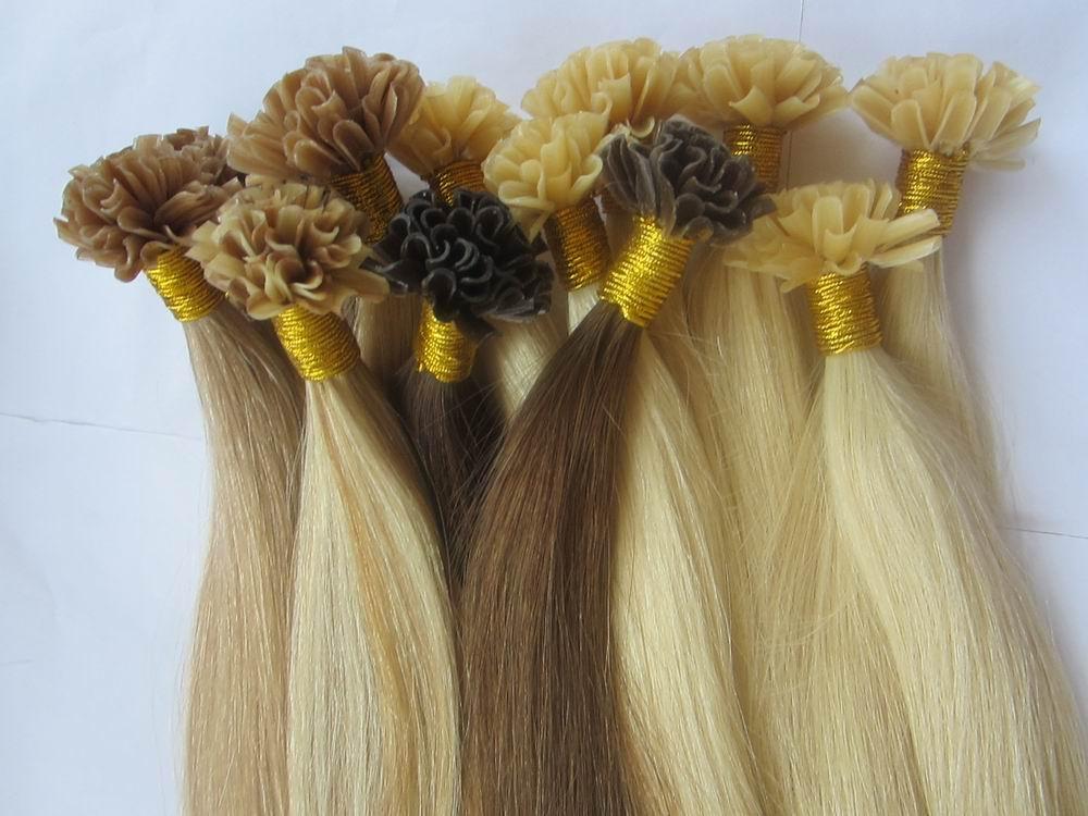 pre-bonded U tip human hair extension remy hair