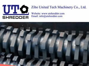 scrap treatment D42100 for waste tire, wood, metal, glass, plastic shredder