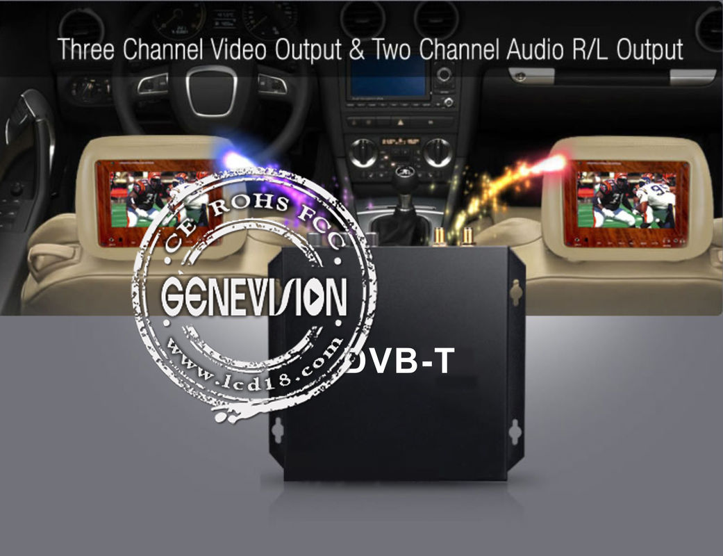 HD Car Digital TV Receiver with 2 tuners active amplified antenna