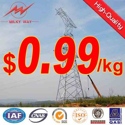 Sell 132kv steel power transmission line towers
