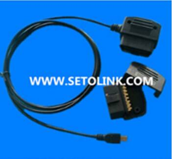 Assembled 16 pin OBDII mini USB cable for car diagnostic system