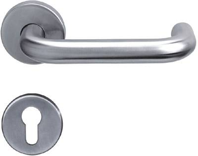 Stainless steel tube lever handle
