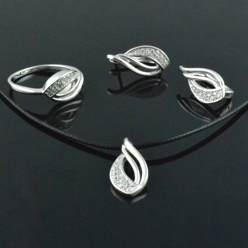 Sterling Silver Jewelry Sets Fashion 925 Silver Rings (13)