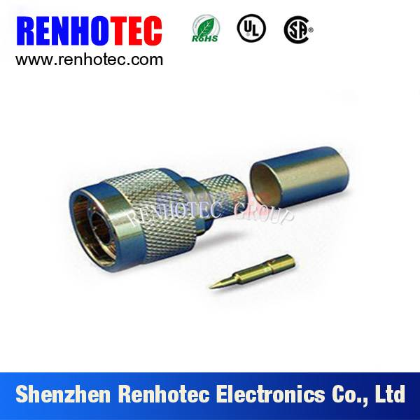 N Type Female crimp connector for RG58 LMR195N