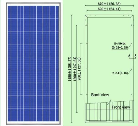 High quality poly pv solar panel 140W