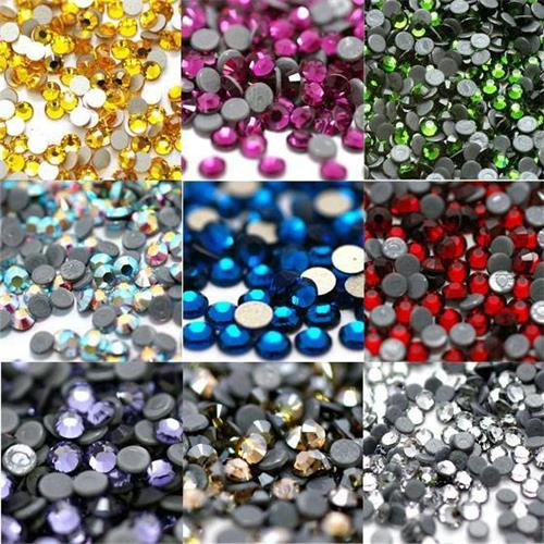 DMC machine cut hot fix rhinestone crystal iron on clothing