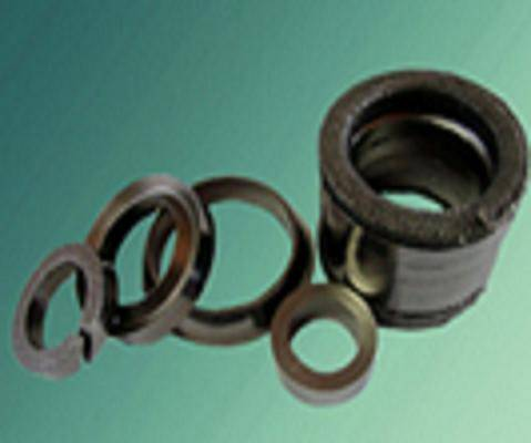 Die-formed graphite ring