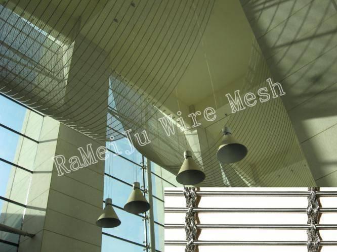 Architectural mesh,metal mesh fabric,decorative wire mesh,RaMeiJu Metal fabrics