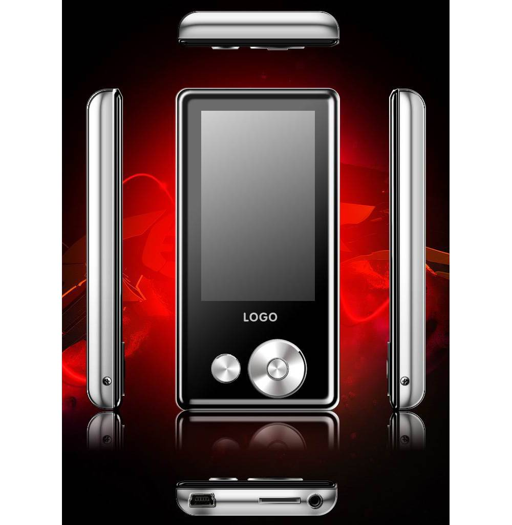 Fashionable MP4 player with 2.4 TFT screen, card insert and multi-task funcitons