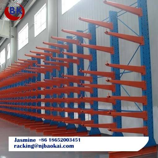 Single Side Steel Beam Cantilever Rack System for Warehouse