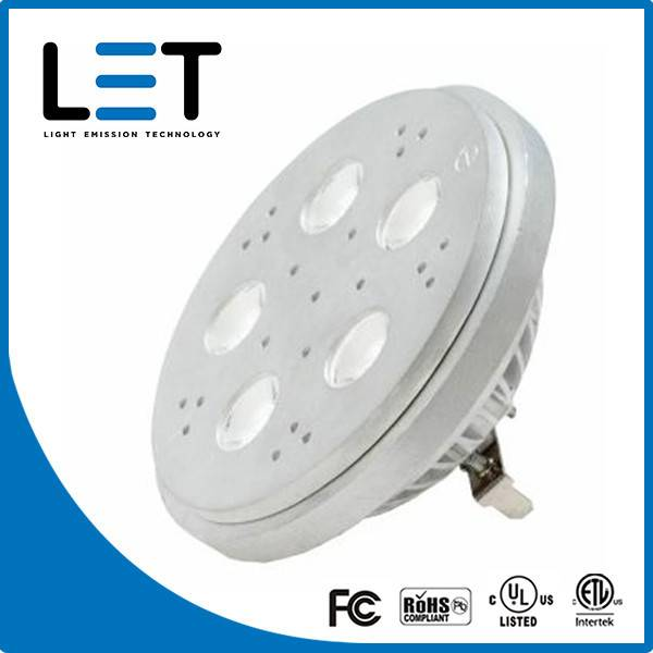 Professional 11W High Quality 660lm ceiling led white LED AR111 Spotlights