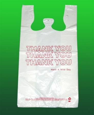 HDPE White Plastic T-Shirt Retail Shopping bag