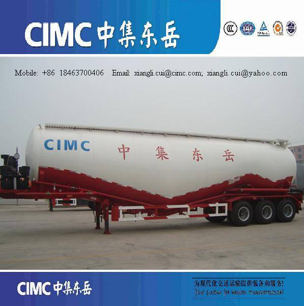 w type 50cbm bulk cement tanker flour transport trailer