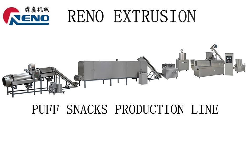 puff corn snacks machinery