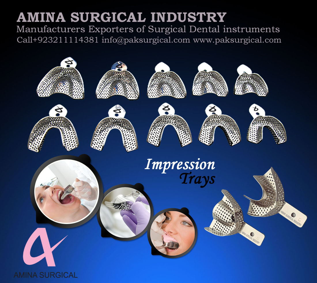 IMPRESSION TRAYS DENTAL IMPRESSION TRAYS
