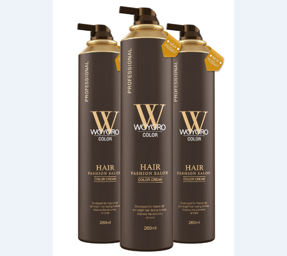 Professional Hair Color Cream Ammonia Free 260ML Gas Tank For Salon