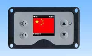 GPS multi languages tour audio system