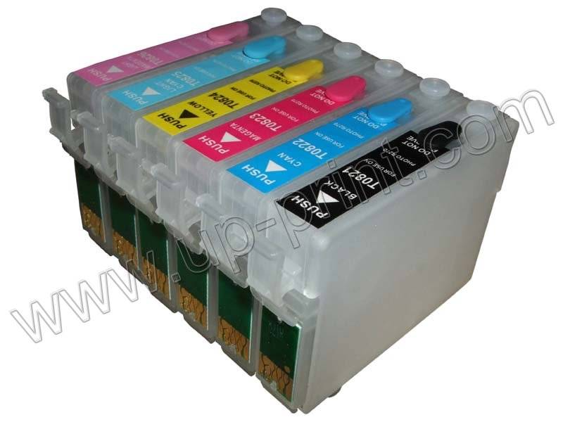 refillable ink cartridge for Epson R270(update)/R265/R260/RX390/RX590