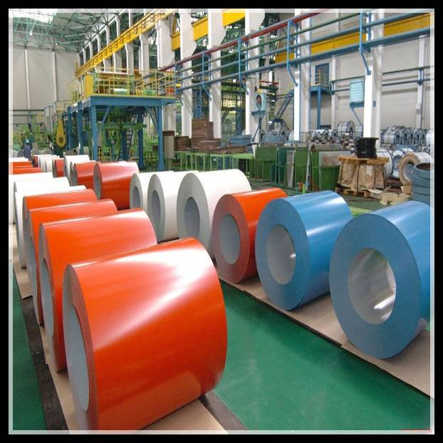 prepainted color galvanized steel coil/prepainted galvanized steel in coils