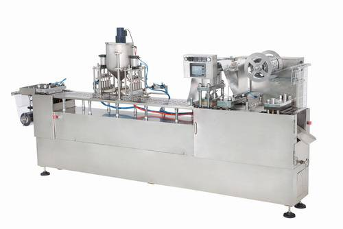 PLASTIC CUP(BOX) FORMING FILLING SEALING MACHINE