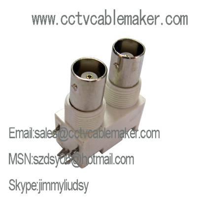 Plastic Insulated Horizontal BNC PCB Mount Socket
