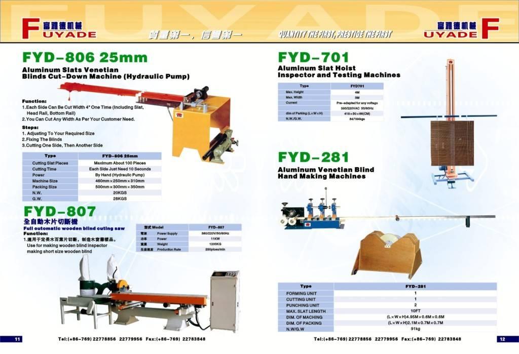 aluminum slats venetian blinds cut-down machine(hydraulic pump)