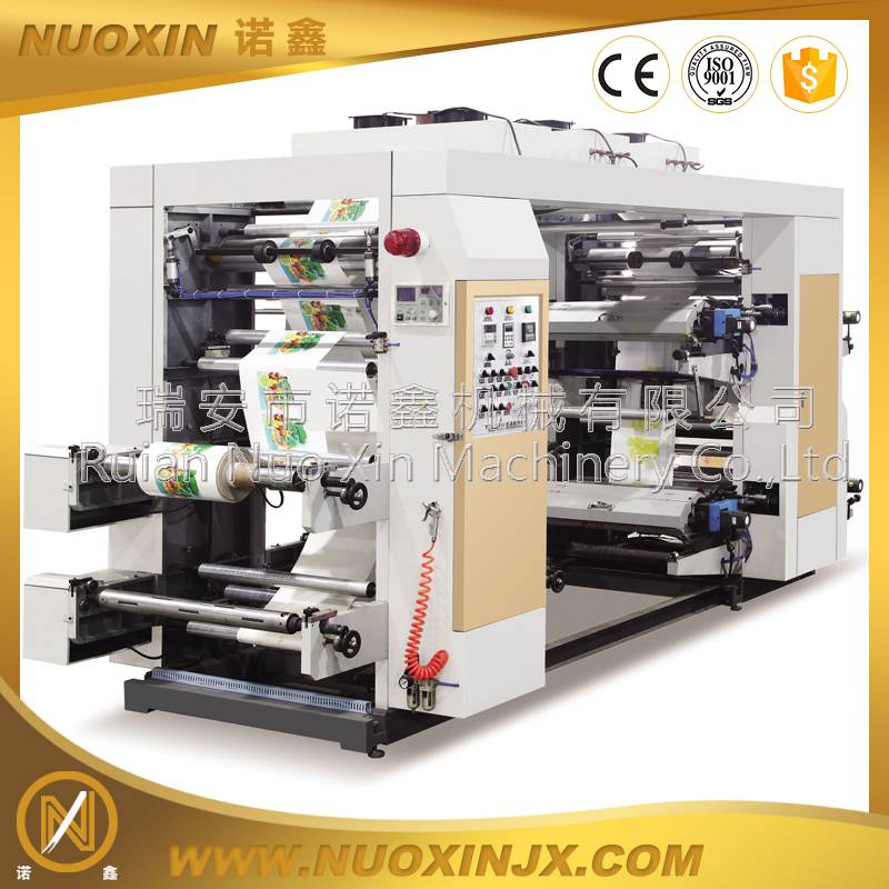 4 color high speed plastic film flexo printing machinery