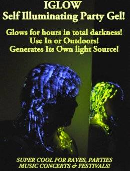 HOT ITEM for 2012 iGLOW GLOW In The DARK Party Novelty HAIRGEL